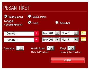 Booking Online Tiket Lion