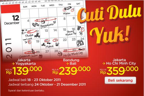 Tiket Promo Air Asia Cuti Akhir Tahun