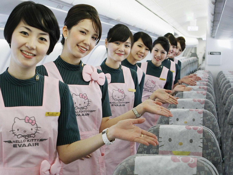 Hello Kitty di Pramugari EVA Air