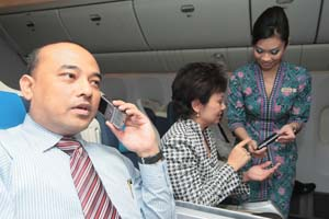 Telepon di Pesawat Terbang