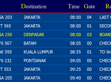 Flight Information Display System - Jadwal Pnerbangan