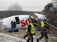 Pesawat Tu-134 Russia Air Jatuh
