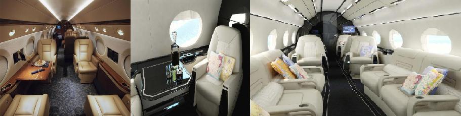Pesawat Carter Gulfstream G550 Interior