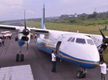 Merpati Terperosok di Bandara Sampit