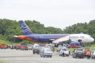 Batavia Air Over Run di Bandara Sepinggan Balikpapan