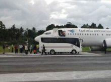 Pesawat Garuda Indonesia Tergelincir di Bandara Sentani
