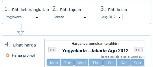 Harga Tiket Pesawat Murah Yogyakarta Jakarta Bulan Agustus