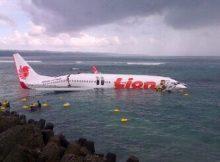 Lion Air Jatuh di Laut dekat Bandara Ngurah Rai Bali