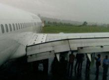 Pesawat Garuda Tergelincir