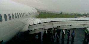 Pesawat Garuda Indonesia Tergelincir di Bandara Sultan Hasanuddin