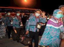 Penerbangan Haji Kloter Pertama Bandara Syamsudin Noor Banjarmasin
