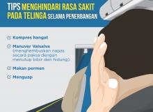 Tips Menghindari Rasa Sakit Telinga Selama Penerbangan