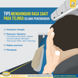 Tips Menghindari Sakit Telinga di Pesawat